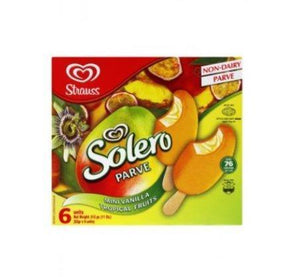 Strauss 6Pk Solero Tropical Non Dairy