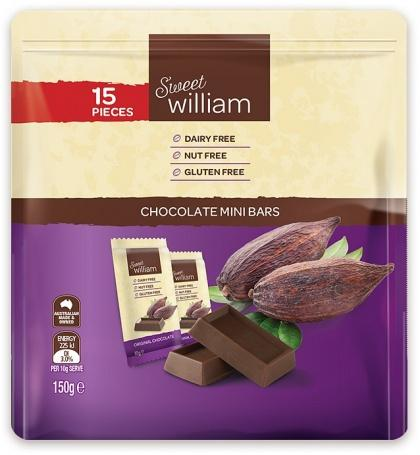 Sweet William Original 15Pcks Minibar Multipack 150Gr