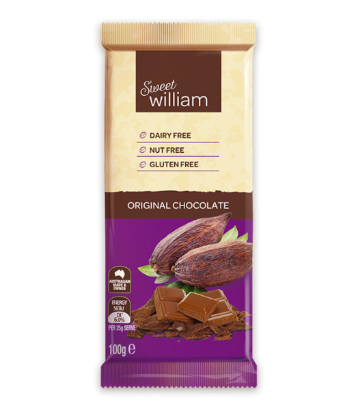 Sweet William Original Chocolate Bars 100Gr