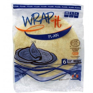 Wrap It Mezonos Plain Wraps 10-Inch 6Pk