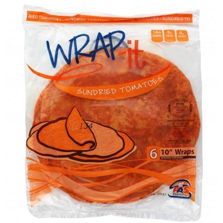 Wrap It Mezonos Sundried Tomato Wraps 10-Inch 6Pk