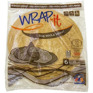 Wrap It Mezonos Wholewheat Wraps 10-Inch 6Pk