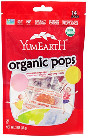 Yum Earth Organic Assorted Fruit Pops 85g