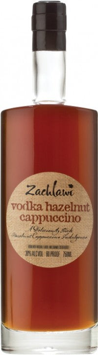 Zachlawi Hazelnut Cappuccino Vodka 750ml 60 Proof