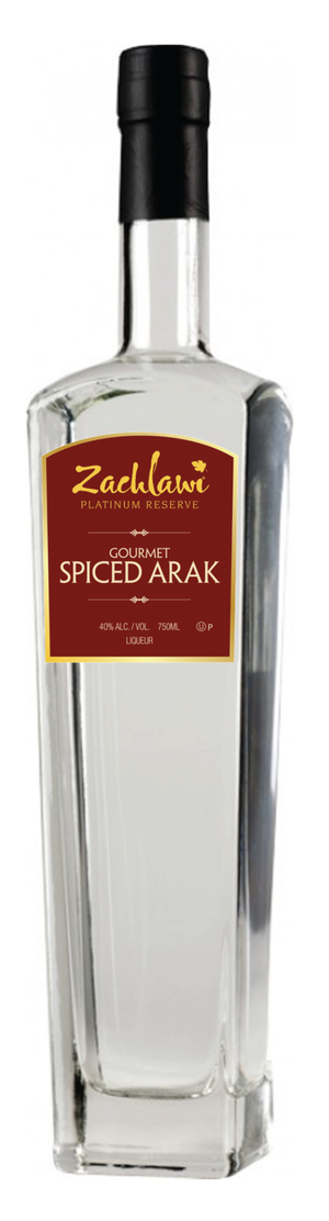 Zachlawi Gourmet Spiced Arak 750ml 80 Proof