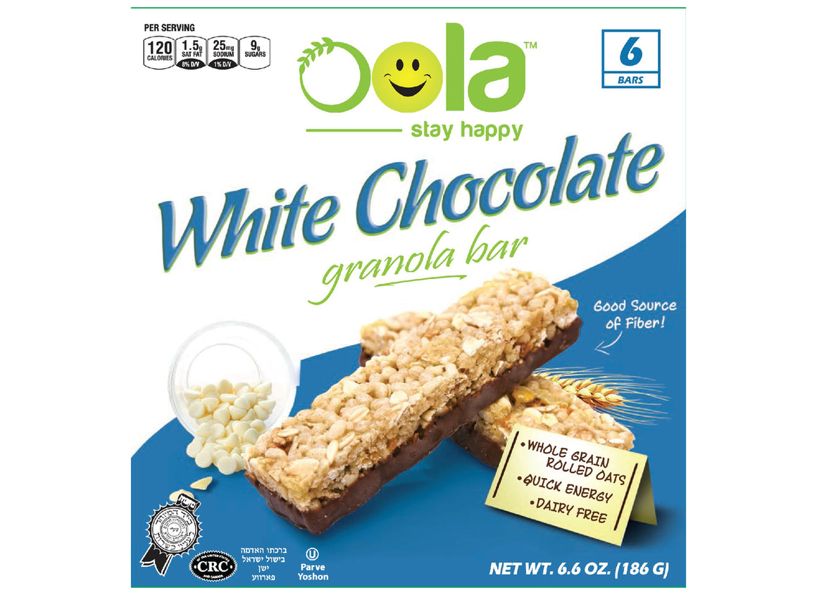 Oola White Chocolate Granola Bars 6pk