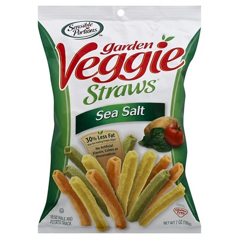 Sensible Portions Veggie Straws Sea Salt 198Gr