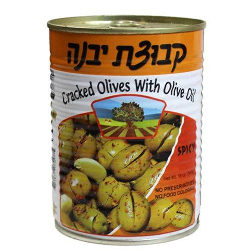 Kvuzat Yavne Cracked Spicy Olives 540G