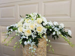 Sympathy Casket Spray - Lapeoni Flowers and Events