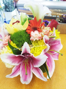 Colorful Blooms in Vase - Lapeoni Flowers and Events