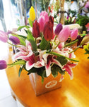 Tulip and Lily Love-Flower delivery by Lapeoni Flowers and Events.