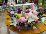 Flower Basket Gift- Flower delivery by Lapeoni Flowers and Events.