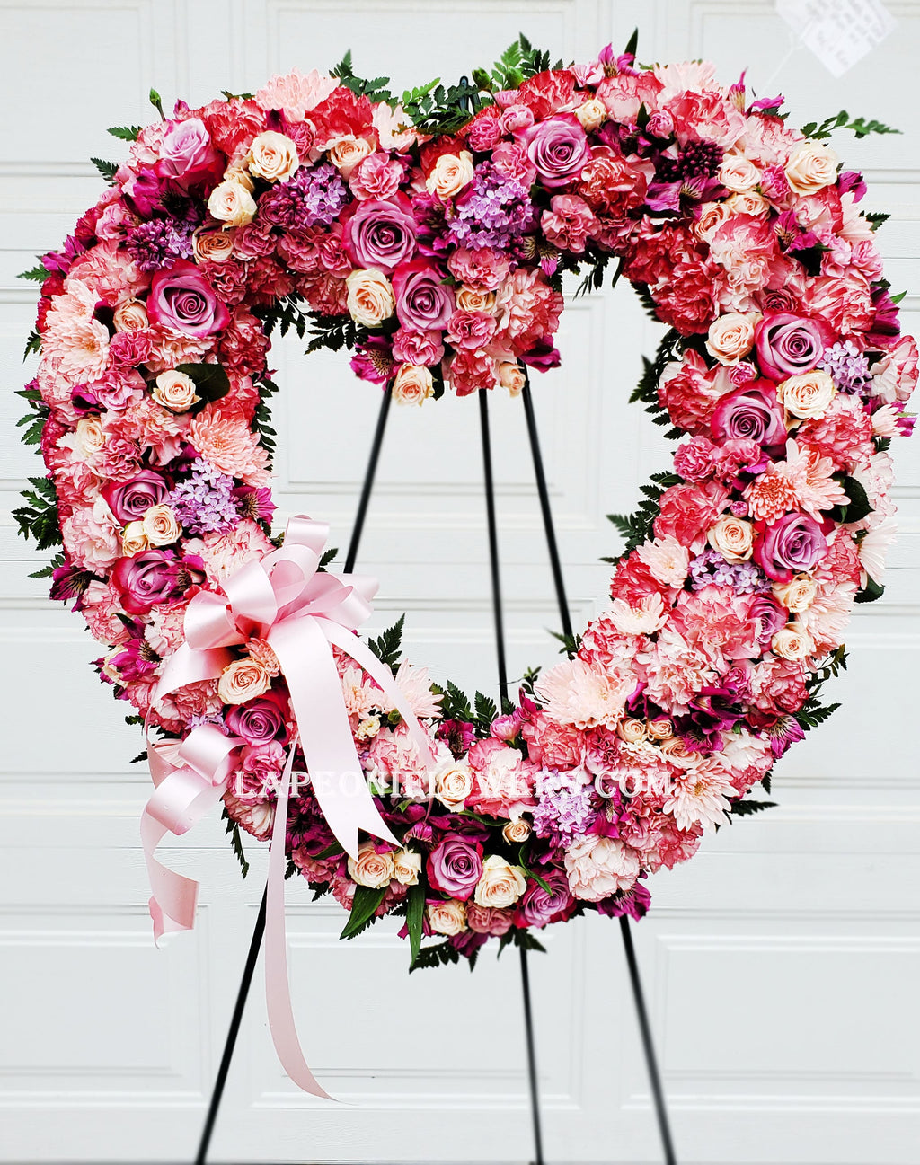 Heart Eternity Wreath - Lapeoni Flowers and Events