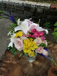 Send flowers - mix colorful - lilies, roses, and other fresh flowers- Lapeoni Flowers and Events