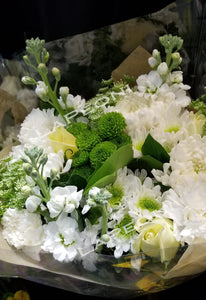 White Flower Hand Bouquet - Lapeoni Flowers and Events
