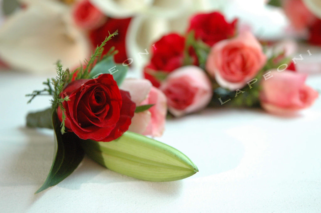 Boutonniere - Lapeoni Flowers and Events