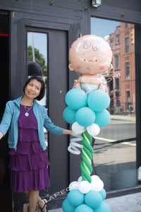 Party Balloon on Pillars - Lapeoni Flowers and Events
