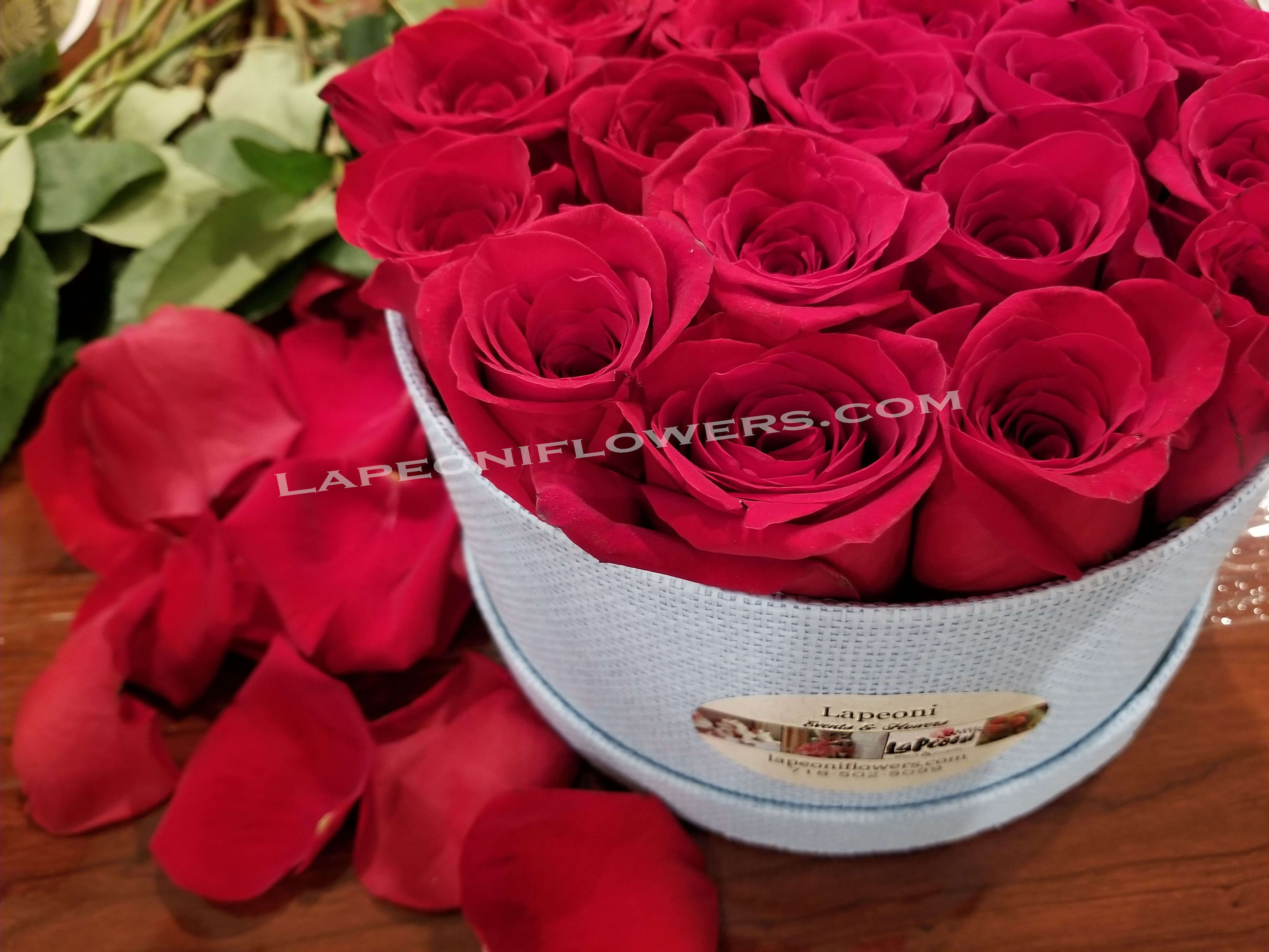 Roses in a Box - Lapeoni Flowers and Events