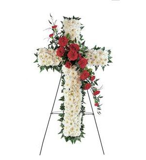Sympathy Cross - Lapeoni Flowers and Events