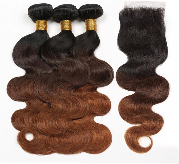 T1B/4/30 Ombré Body Wave Bundle Deal