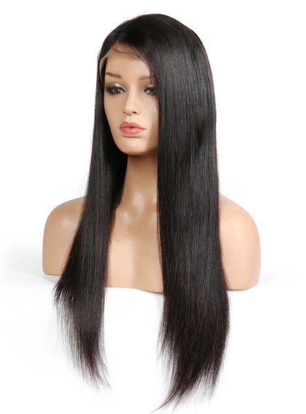 Lace Frontal Wig- Natural Straight Brazilian