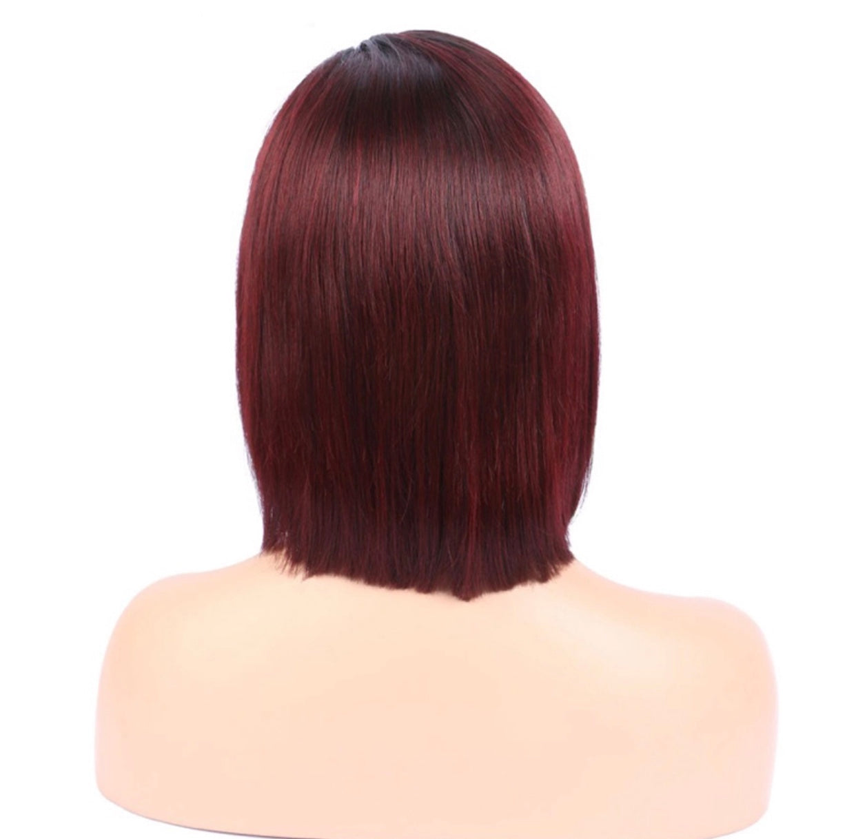 T1B/Red Lace Frontal Wig