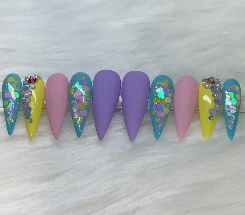 "Press On Nails ""Easter Bunny"""