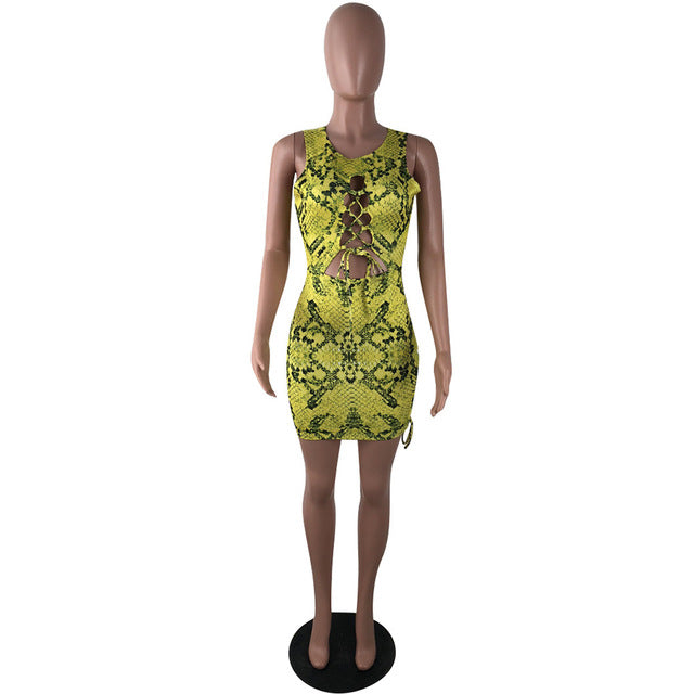 Bodycon Snake Print Dress