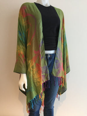 GREEN RAINBOW SHAWL