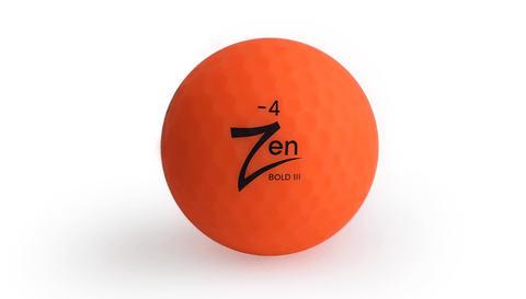 Best Multi-colored Zen Pro Tour Golf Ball with 3 Pieces Layers