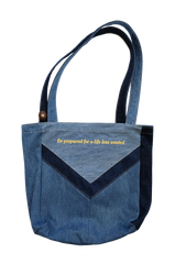 EarthSavvy X Outliv 'Savvy Tote' - denim pocket