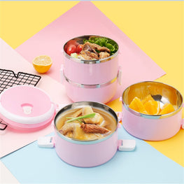 Bento empilable ISOpil Rond 4E1C Rose