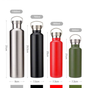 Bouteille Isotherme Bouteille Gourde Isotherme 100% Inox 4 couleurs 4 tailles