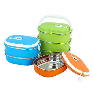 Lunch Box Lunch Box isotherme empilable ovale 4 étages 70cl 3 couleurs