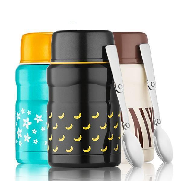 Lunch Box Lunch Box Thermos alimentaire Isotherme 550ml 4 couleurs motifs