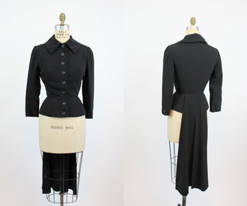 1950's Ben Reig tuxedo jacket with tails xs | vintage tux jacket | new in