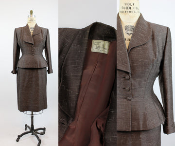 1940s 1950s Lilli Ann suit medium | vintage skirt and jacket two piece | new in