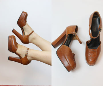 1970s platform mary jane shoes size 7 us | vintage 1970s does 1940s pumps
