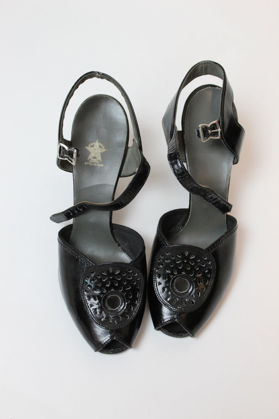 1940s peep toes size size 6 us | vintage star brand mary janes | new in
