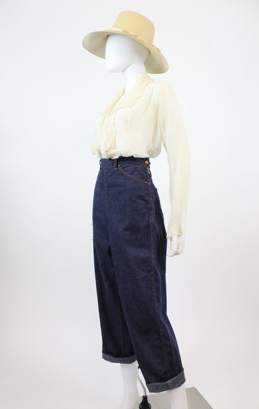 1950s ranch craft denim jeans small 28