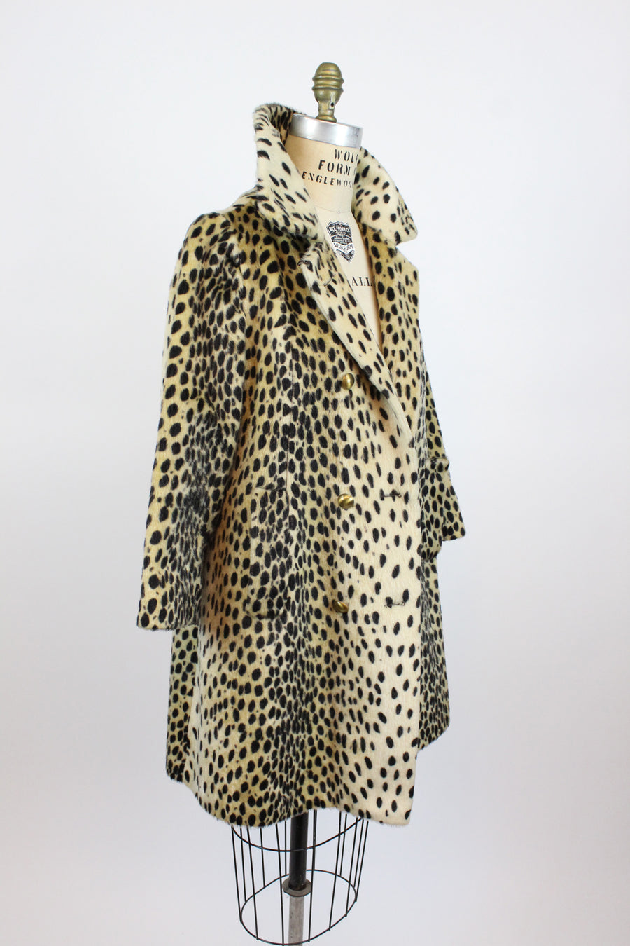 1960s leopard coat small medium | vintage faux fur jacket | new in