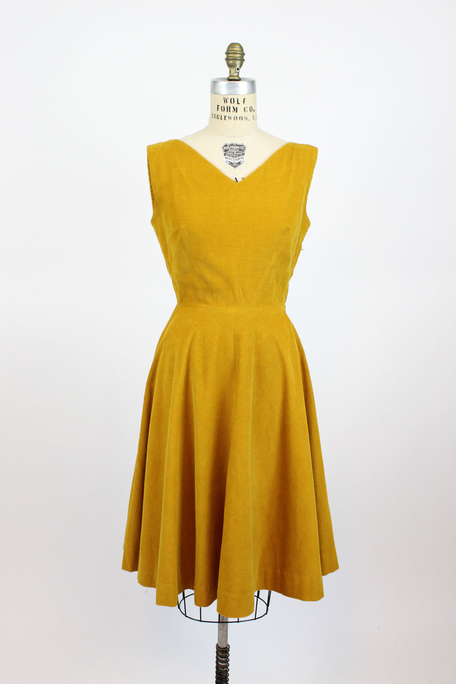 1950s corduroy dress small | vintage fit and flare dress | new in