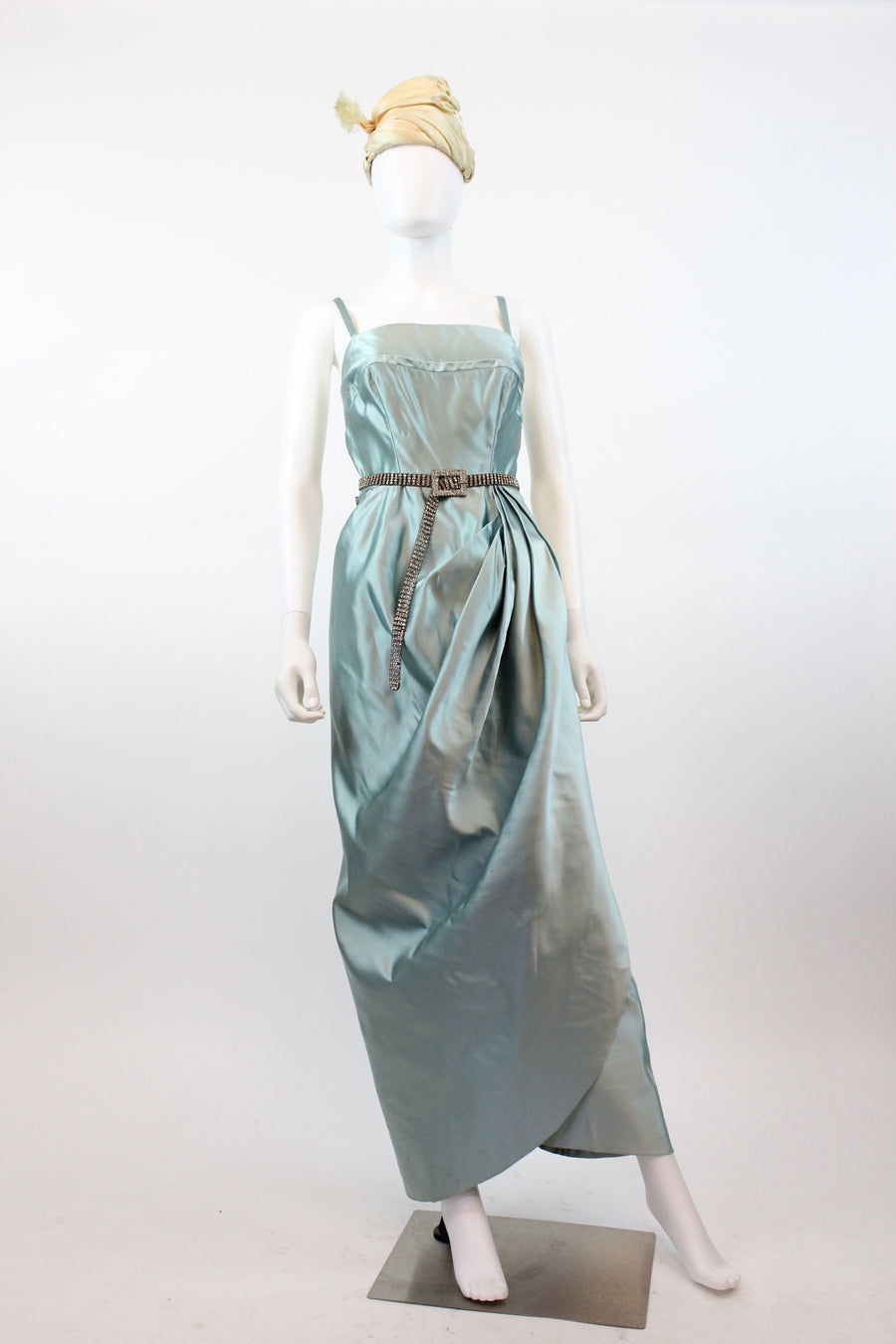 1940s Sophie Original silk gown small | vintage strapless dress | new in