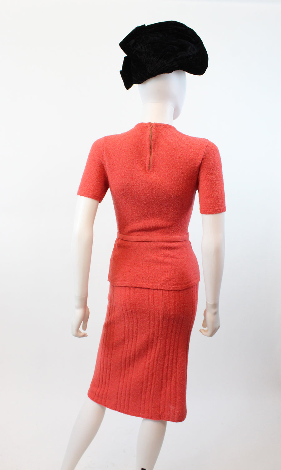 1940s arrow knit skirt set xs | vintage sweater and skirt