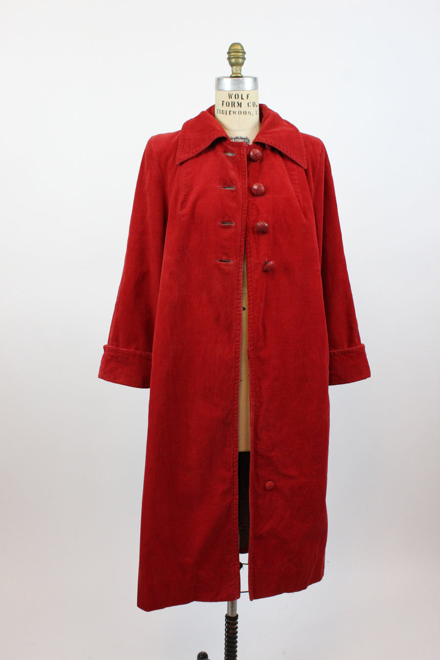 1940s red corduroy coat medium large | vintage jacket new in