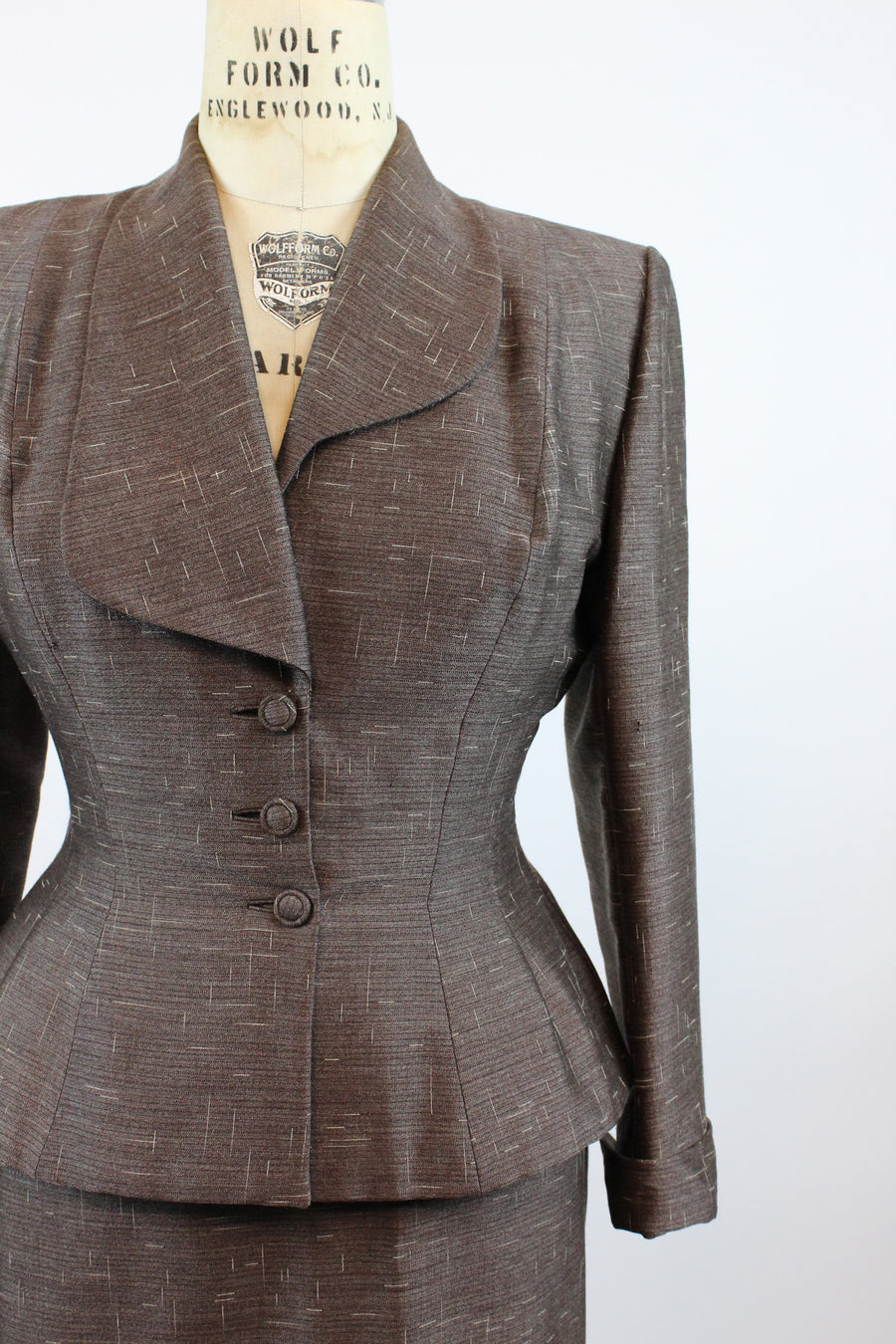 1940s 1950s Lilli Ann suit medium | vintage skirt and jacket two piece