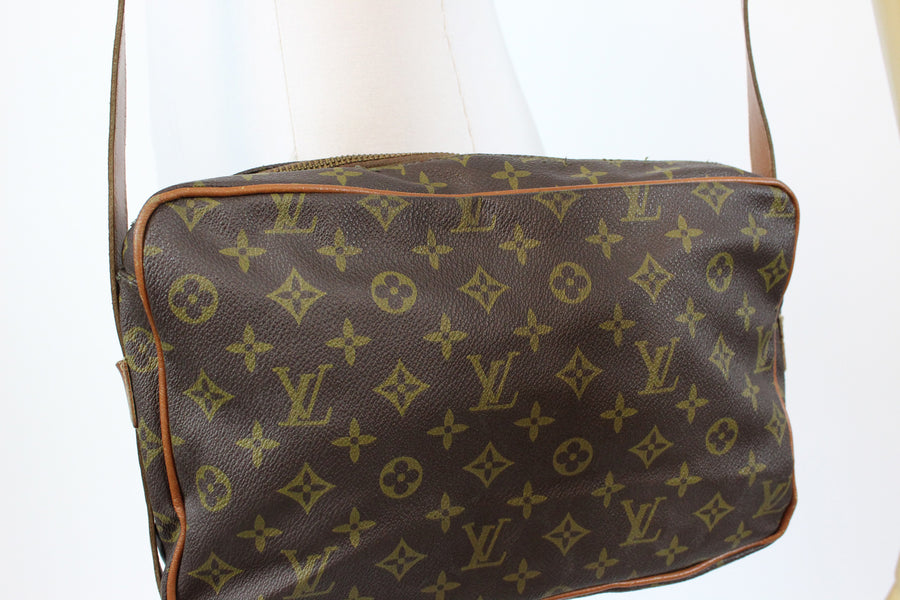 1980s Louis Vuitton inspired camera bag | vintage designer purse | new in