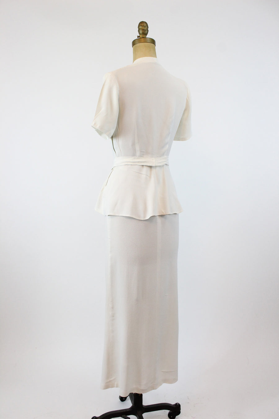 RESERVED FOR ANGELA 1940s ivory rayon wedding dress xs | new in