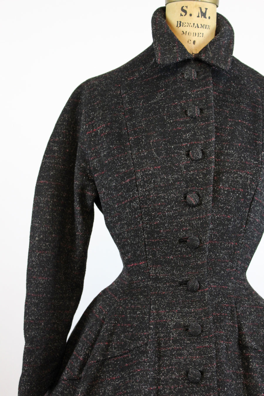 1950s Lilli Ann princess coat xs | vintage fit and flare flecked coat | new in