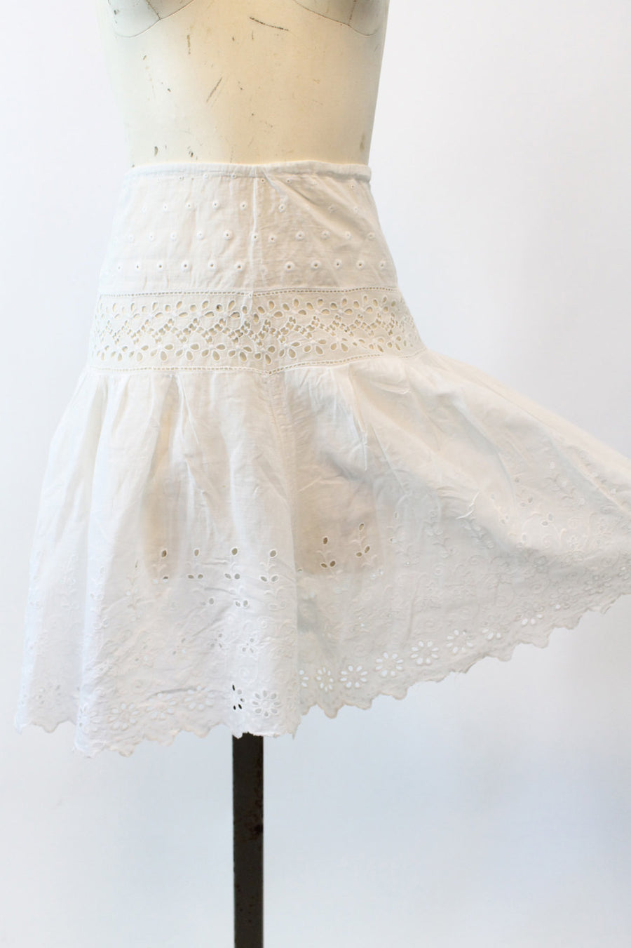 1910s edwardian shorts culottes xs | antique eyelet cotton bloomers